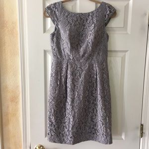 J Crew all over lace dress smoky lavender 6P